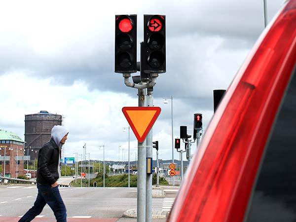 Trafikljus, rött